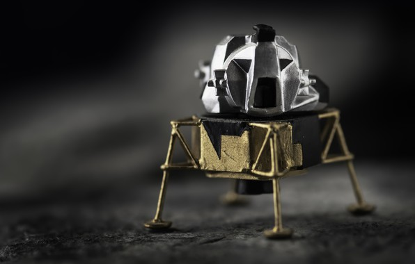 Picture background, model, Moon Lander, Lunar Module