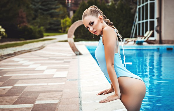 Picture swimsuit, look, water, pose, pool, Catherine, Anton Kharisov, Katrin Sarkozy