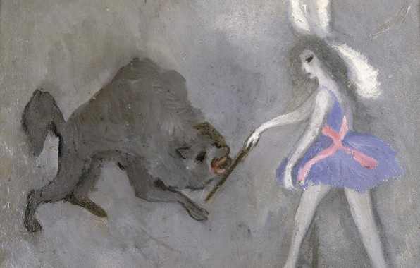 Picture wolf, stick, Marie Laurencin, Tamer