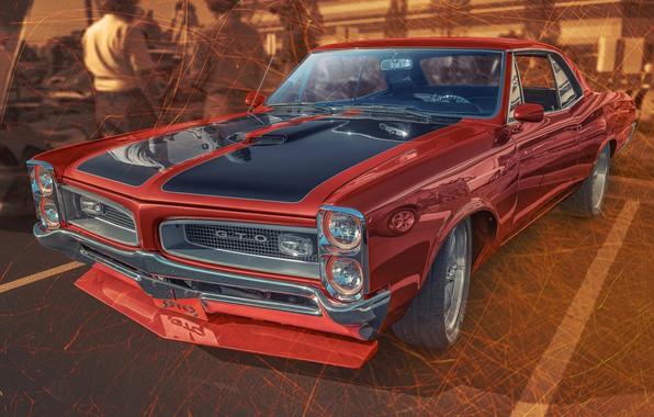 Picture design, car, Pontiac GTO