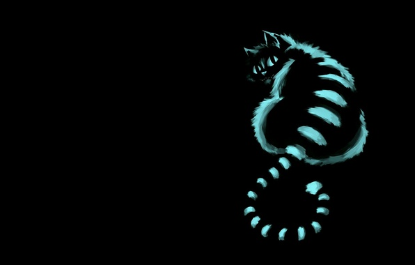 Picture cat, mood, art, Cheshire cat