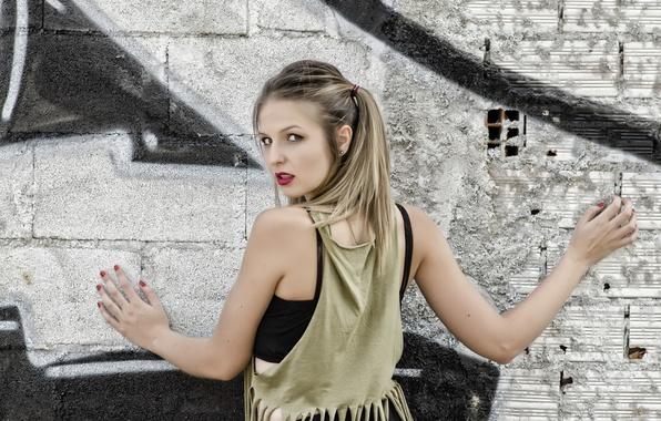 Photo wallpaper hair, model, girl, Claudia Suarez, look