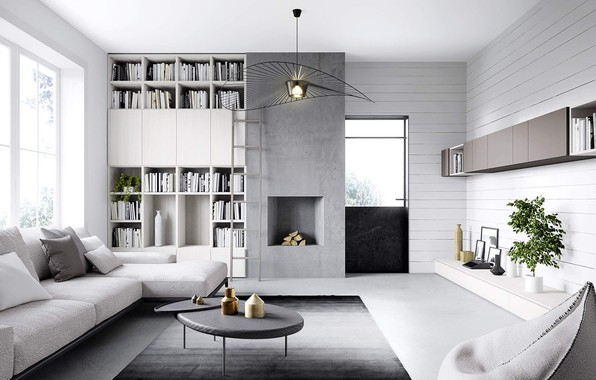 Photo Wallpaper Design, Style, Interior, Living Room, Modern Home In Germany