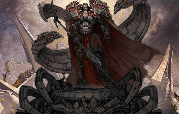 Picture sword, warrior, Odin