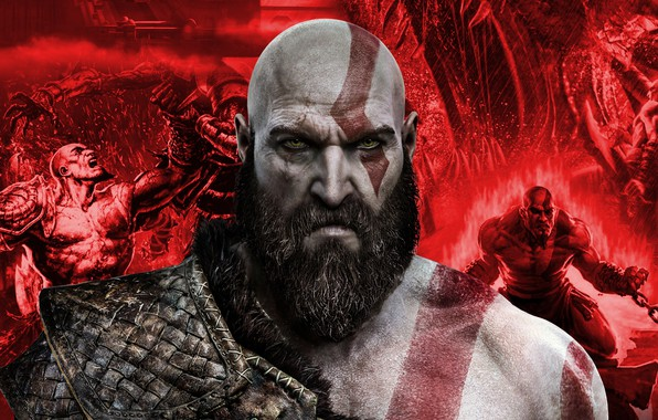 Picture God of War, Kratos, God Of War, the Slayer of evil.