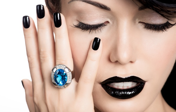 Picture model, ring, make up