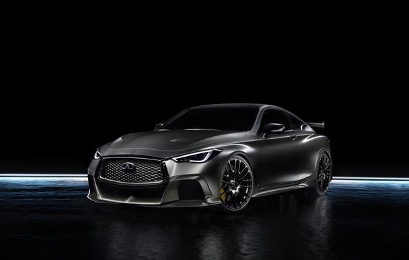 Picture Infiniti, black background, sedan, infiniti, Sedan, Q60