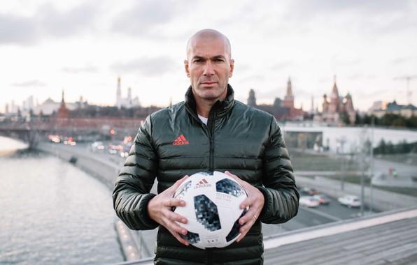 Picture The ball, Sport, Football, Moscow, Russia, Adidas, Player, Zidane, FIFA, FIFA, Champion, Zinedine Zidane, World …