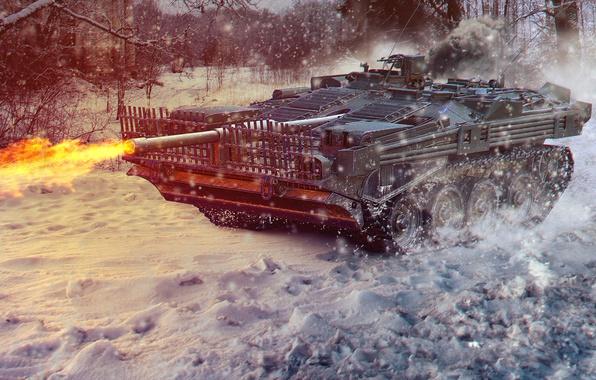 Photo Wallpaper Tank Art World Of Tanks Wot Wotart