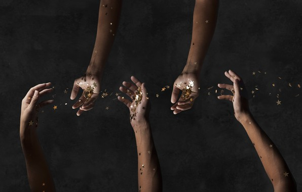 Picture people, stars, hands