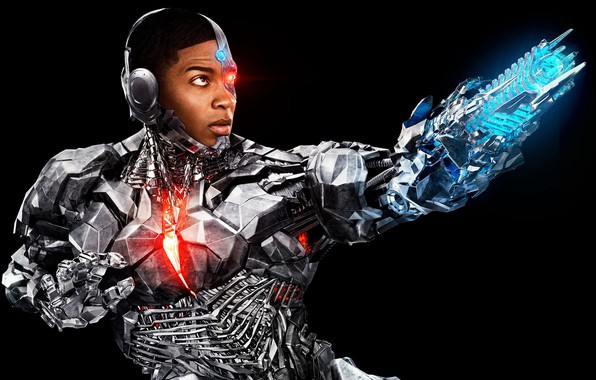 Picture fiction, costume, black background, poster, comic, DC Comics, Cyborg, Justice League, Justice League, Ray Fisher, …