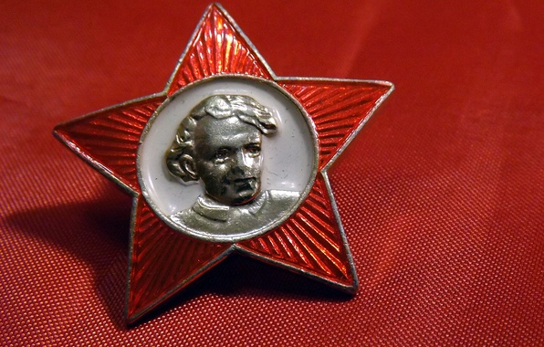 Picture USSR, BACKGROUND, STAR, RED, PORTRAIT, ICON, LENIN, OKTYABRENOK, SCHOOL, NOSTALGIA