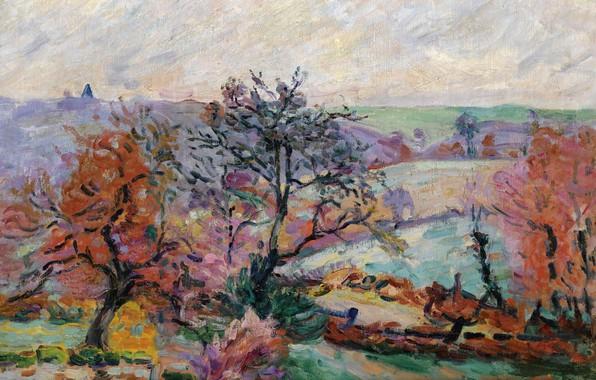 Picture autumn, landscape, nature, picture, Arman Hyomin, Armand Guillaumin, View Krosan