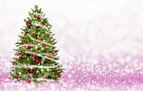 Picture balls, tree, New Year, Christmas, merry christmas, decoration, xmas, holiday celebration