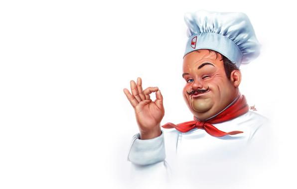 Picture mood, art, cook, Smak, Ricardo Chucky, Starburns Industries logo, chef
