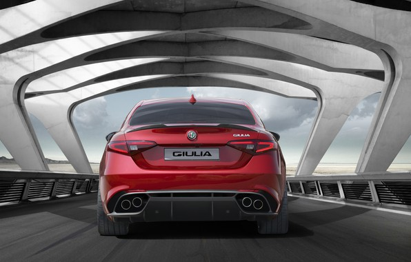 Photo wallpaper Car, Sport, Red, Giulia, Alfa, Alfa Romeo, Italian