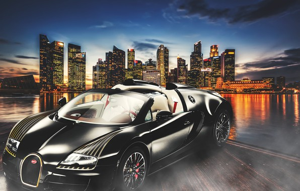 Picture design, the city, background, car