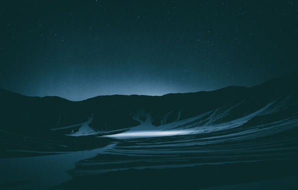 Picture Mountains, Stars, Space, space, stars, Lighting, Cinema4d