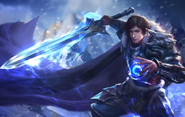 Picture magic, sword, battle, warrior, fantasy, art, work, Skil, yihua lv