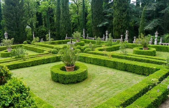 Wallpaper Design Peyron Villa Garden Greens Tuscany