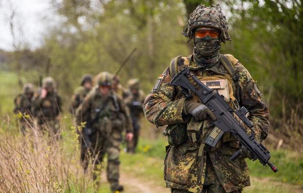 Picture soldiers, machine, Bundeswehr