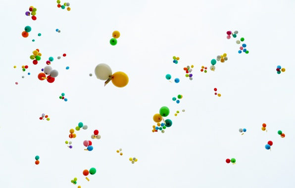 Picture background, balls, letters