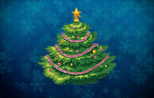Photo Wallpaper Minimalism Christmas Snowflakes Background New Year Tree Holiday