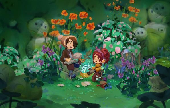 Picture nature, children, art, Illustrator, children's, Angi Pauly Llobet, Flora Ignota