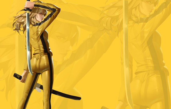 Picture ass, eyes, look, girl, sword, costume, girl, sword, ass, Kill Bill, eyes, look, costume, Uma …