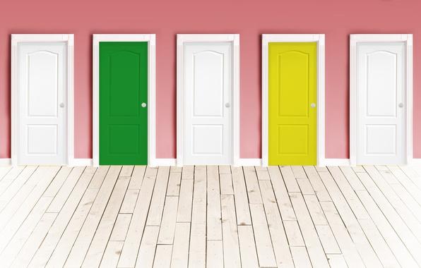Picture wall, color, door, floor