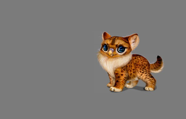 Picture fiction, beak, baby, art, kitty, kitty, Milota, children's, pet, by Nefantano
