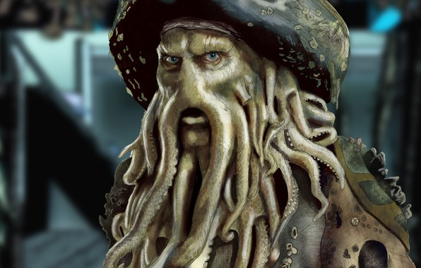 Picture Figure, Davy Jones, Pirates Of The Caribbean, Davy Jones, Pirates of The Caribbean