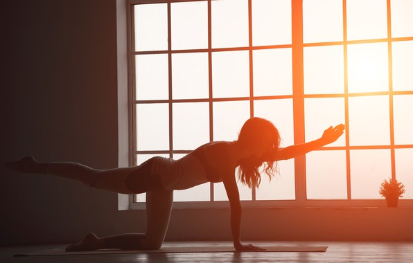 Picture girl, sun, fitness