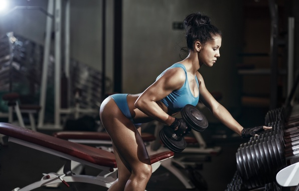 Picture brunette, workout, fitness, gym