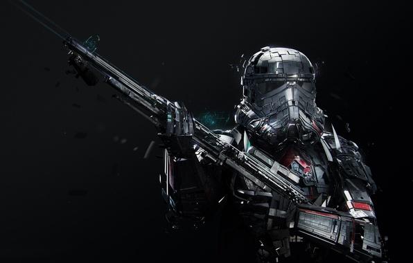 Picture cinema, Star Wars, gun, soldier, weapon, power, man, movie, film, suit, clone, pearls, uniform, seifuku, …