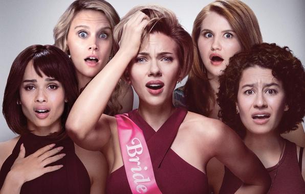 Picture Scarlett Johansson, cinema, movie, film, Zoë Kravitz, Kate McKinnon, Rough Night, Jillian Bell, Ilana Glazer, …