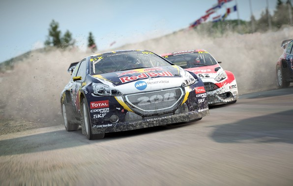 Picture car, game, Dirt, race, speed, fast, RedBull, Dirt 4