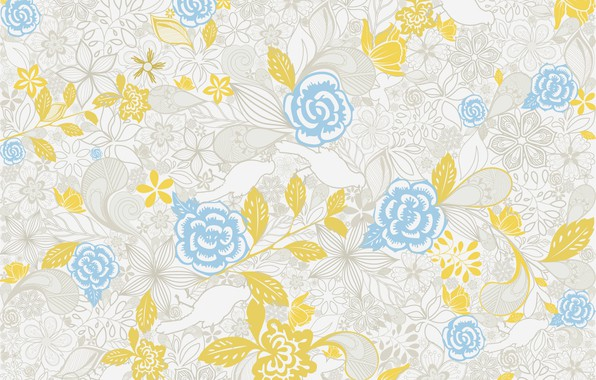 Picture flowers, background, pattern, design, pattern