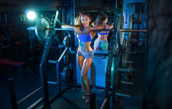 Picture model, blonde, pose, workout, fitness, gym
