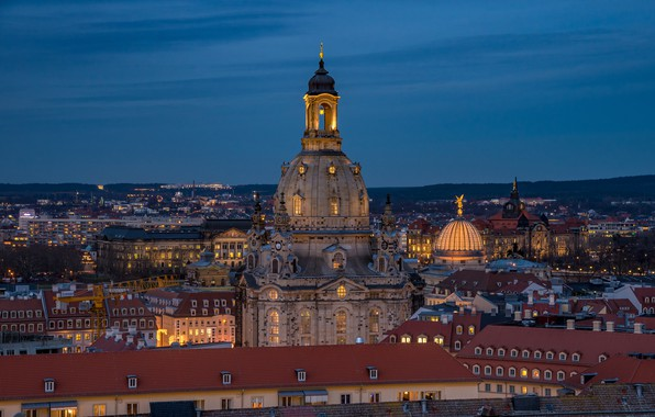Picture building, home, Germany, Dresden, roof, Church, Germany, Dresden, Frauenkirche, Frauenkirche