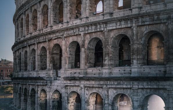 Picture Rome, Colosseum, Italy, amphitheatre, monument, the Flavian amphitheatre, Amphitheatrum Flavium