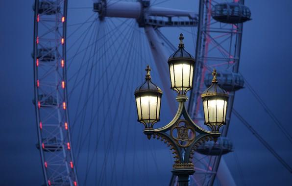 Picture England, London, lantern, Ferris wheel, London, England, The London eye, London Eye