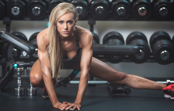 Picture model, look, blonde, workout, fitness