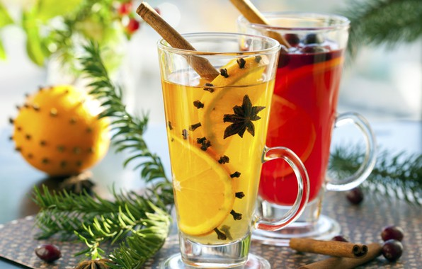 Picture orange, cinnamon, drinks, carnation, punch, star anise