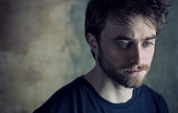 Photo wallpaper photoshoot, Daniel Radcliffe, Daniel Radcliffe, bokeh, actor, Sarah Dunn, t-shirt, beard, portrait