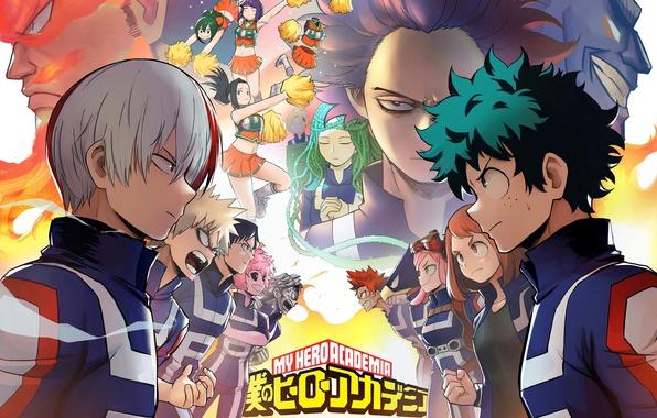 Picture anime, hero, asian, manga, asiatic, yuusha, kanji, season 2, japonese, Izuku Midoriya, Shouto Todoroki, Katsuki …