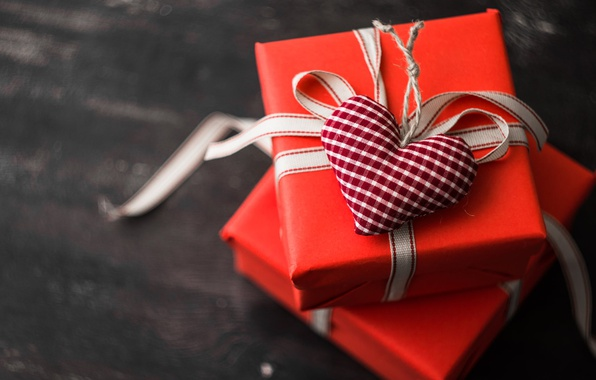 Picture holiday, heart, gifts, box, figure