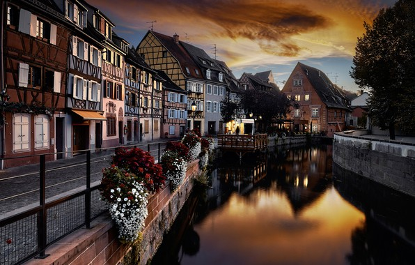 Picture night, France, home, channel, Colmar