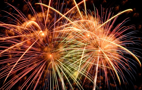 Picture salute, colorful, New Year, fireworks, new year, happy, night, fireworks, 2017, holiday celebration