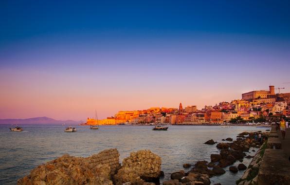 Picture Sunset, Home, Italy, Building, Italy, Sunset, Italia, Lazio, Gaeta, Gaeta, Latina, Gaeta Gulf, Gulf of …